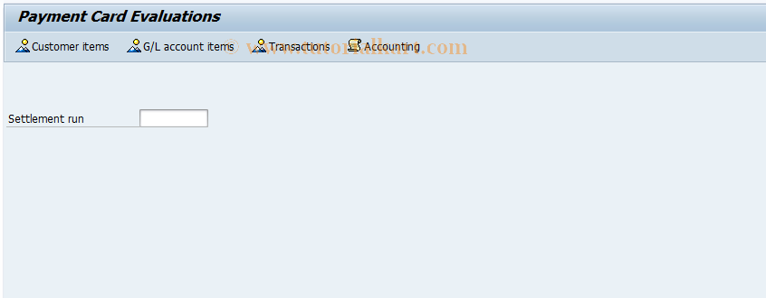SAP TCode FCCR - Payment Card Evaluations