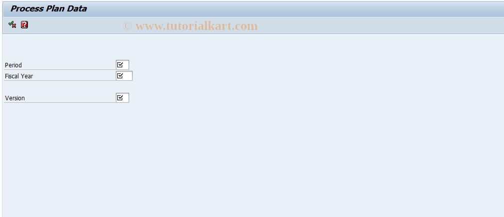 SAP TCode FERQ - Process plan