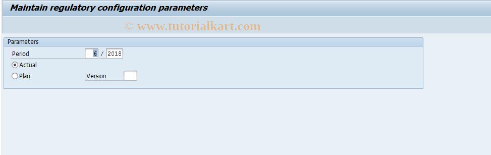 SAP TCode FEV1 - Controlling area dependent parameter