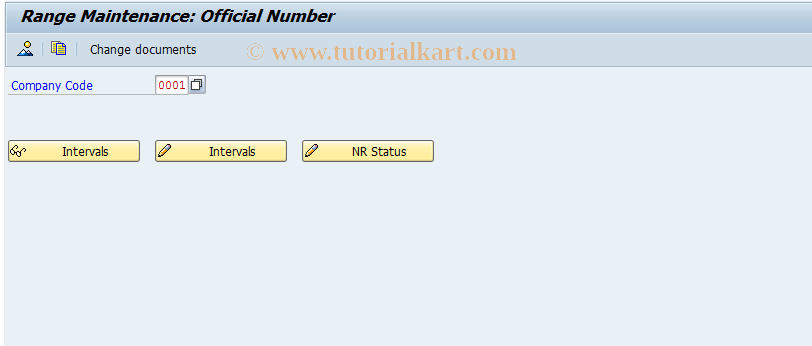 SAP TCode FGSODN_IT1 - Number range maintenance: FIN2_IT
