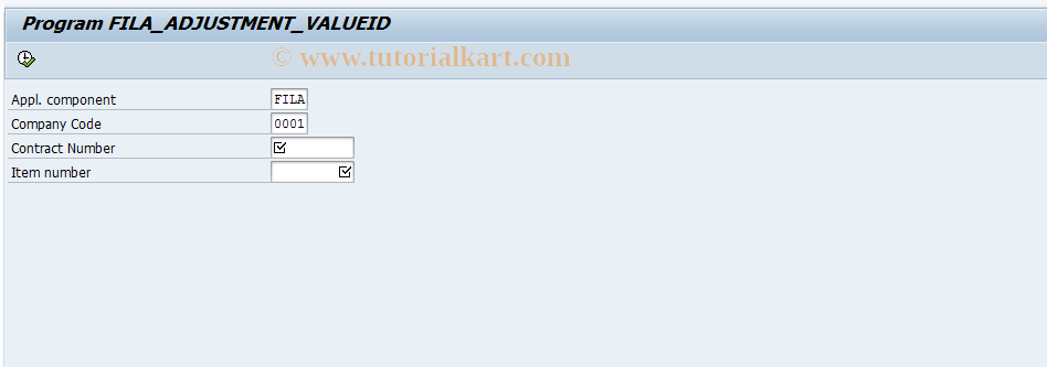 SAP TCode FILAADJ - Manual Changes to Value ID Contents