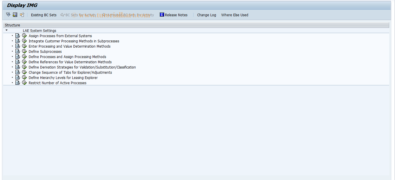 SAP TCode FILASYST - Jump to IMG for System Customizing
