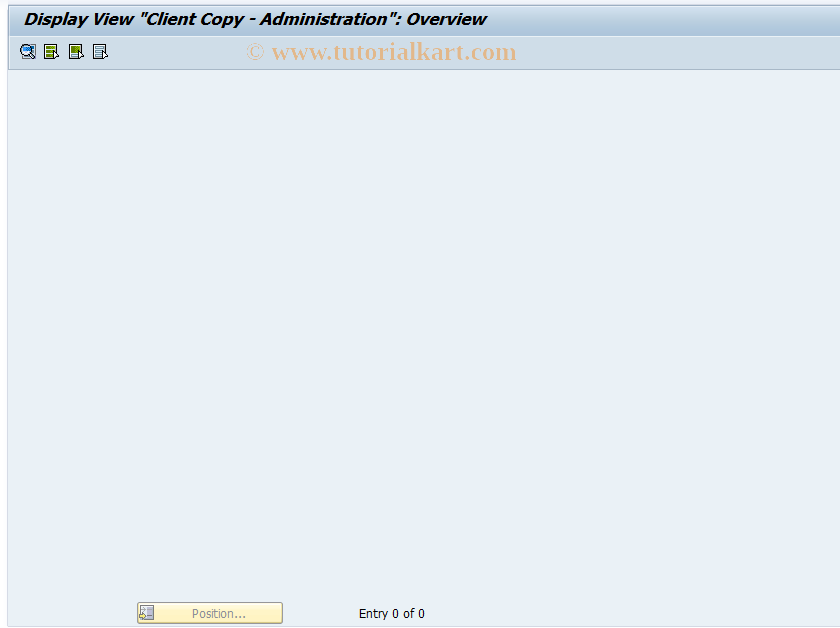 SAP TCode FINB_TR_CCM1 - Client Copy - Administration