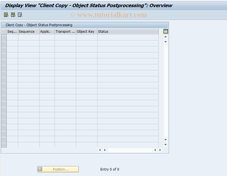 SAP TCode FINB_TR_CCO - Client Copy - Object Status