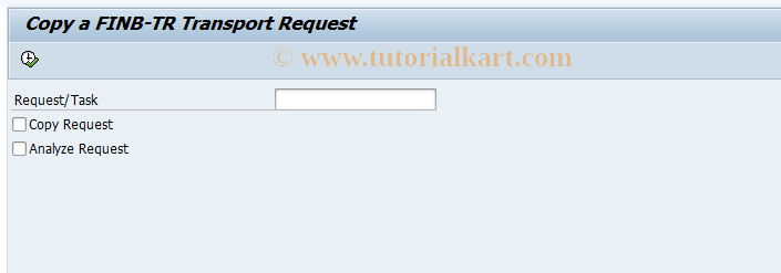 SAP TCode FINB_TR_U1 - Copy a Transport Request