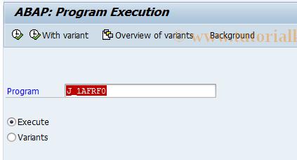 SAP TCode FJA3 - Balance Sheet/P&L with Inflation