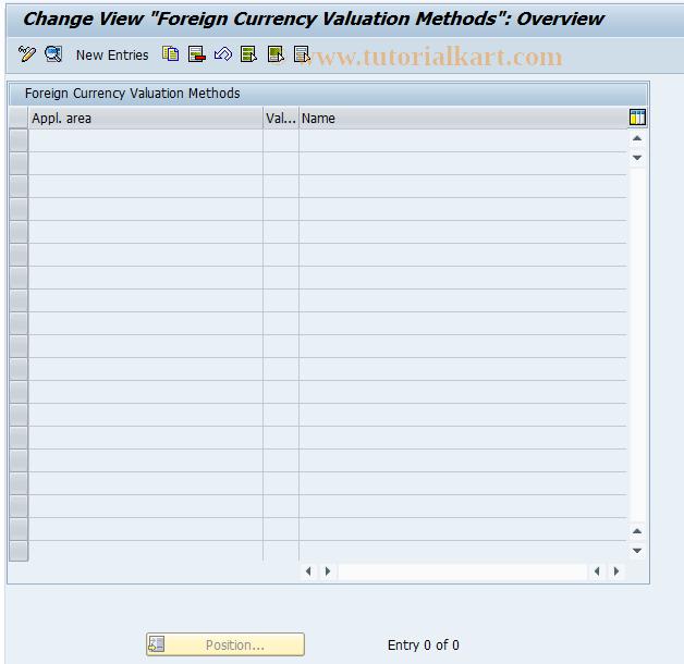 SAP TCode FK59 - C FI-CA Table maintenance TFK044A