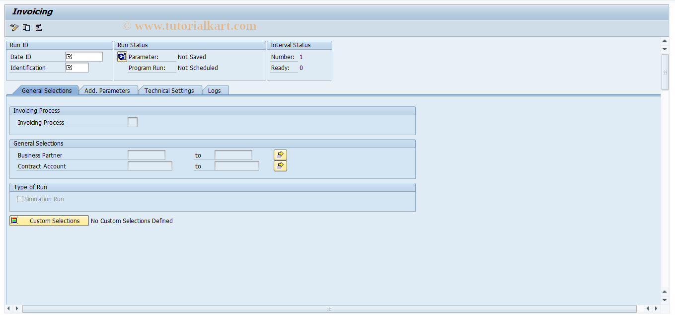 FKKINV_MA SAP Tcode : Invoicing Transaction Code