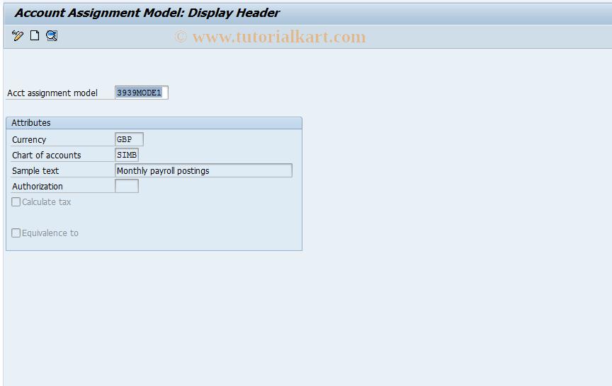 SAP TCode FKMT - FI Account Assignment Model Management
