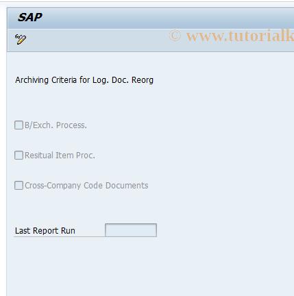 SAP TCode FLOREO - Customizing of Logical Document Reorganization