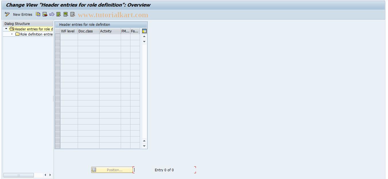 SAP TCode FM+1 - Maintain FM Main Role Definition