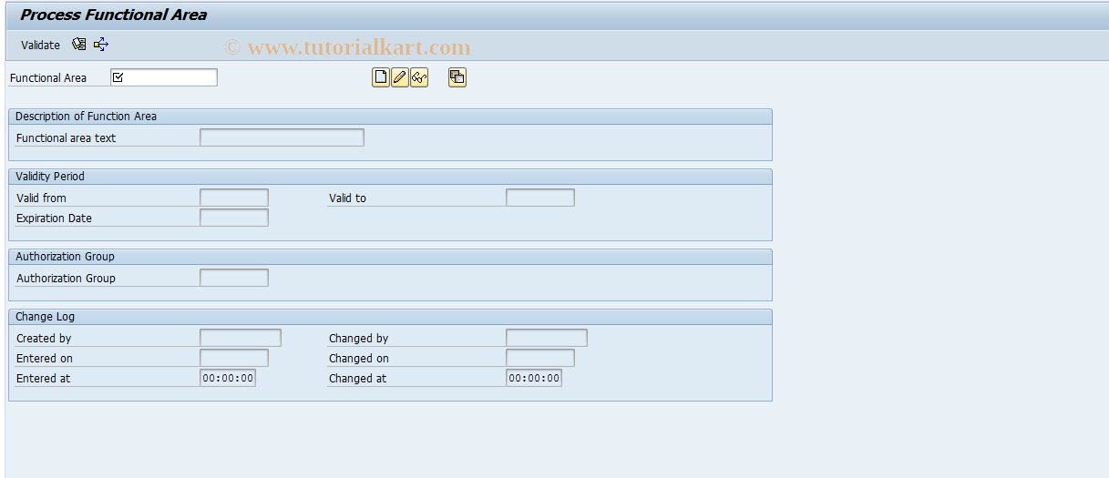 SAP TCode FM_FUNCTION - FM: Functional Area
