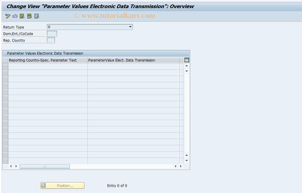 SAP TCode FOTED2 - Elec. Data Transmission Parameter(s)