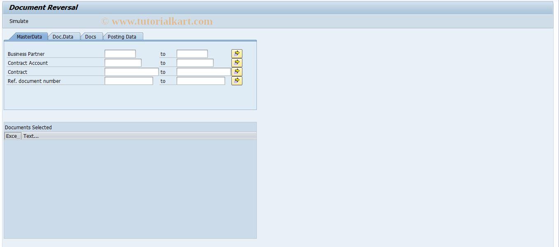 SAP TCode FP22 - Mass Reversal of Documents