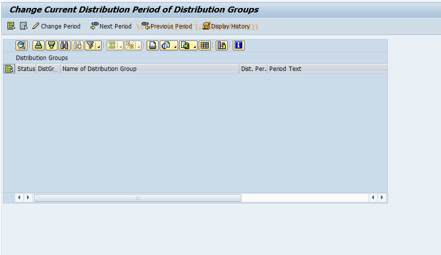 FP60G SAP Tcode : Change Distribution Periods Transaction Code