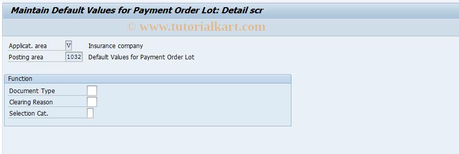 SAP TCode FQ1032 - FI-CA: Post Payment Order Specs