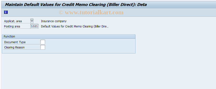 SAP TCode FQZH2 - FI-CA: Credit Memo Clearing (EBPP)