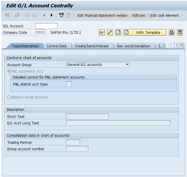 Define Financial Statement Version Tcode In Sap