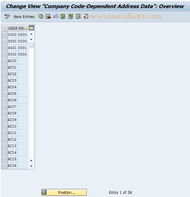 SAP TCode FSAP - Addresses for Balance Confirmations