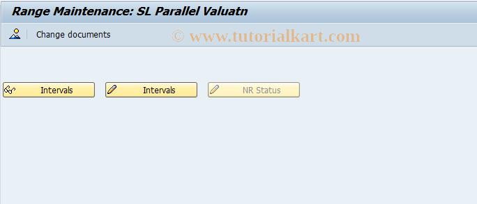 SAP TCode FSL_EVALUNR - Number Range Maintenance: SL_EVALU