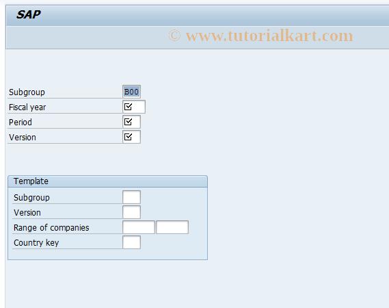 SAP TCode GC16 - Create Subgroup Master Record