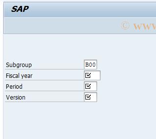 SAP TCode GC17 - Change Subgroup Master Record
