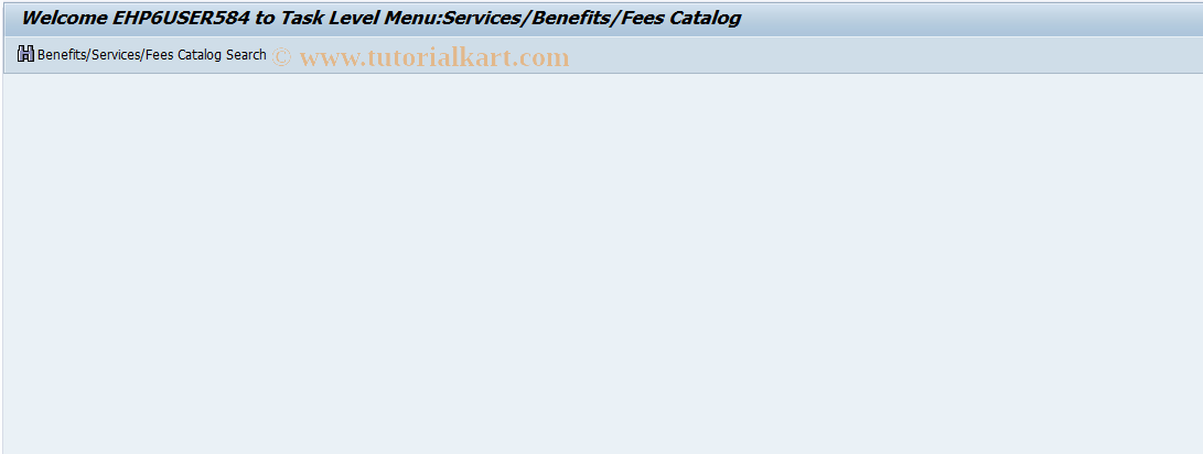 ICLSCWM SAP Tcode : FS-CM Task Level Menu Benefit Catelg Transaction