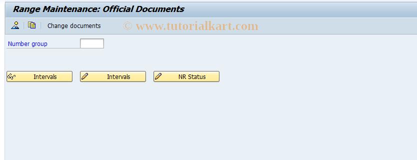 SAP TCode J1AB - Number range maintenance: J_1AOFFDOC