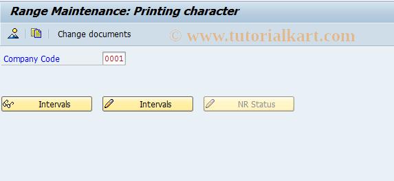 SAP TCode J1AP - Nummernkreispflege: J_1APRNTCH