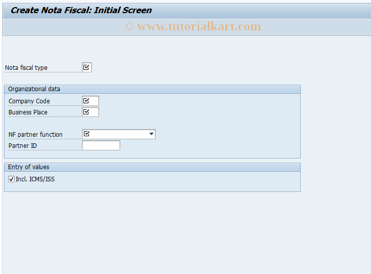 SAP TCode J1B1N - Create Nota Fiscal (Writer) - Enjoy