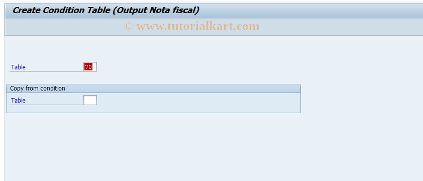 SAP TCode J1BO - Output CondTable/Create Nota Fiscal