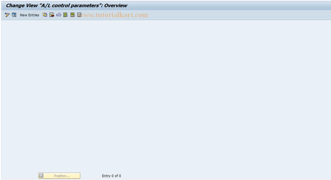 SAP TCode J1GAL0 - Maintain J_1GALC