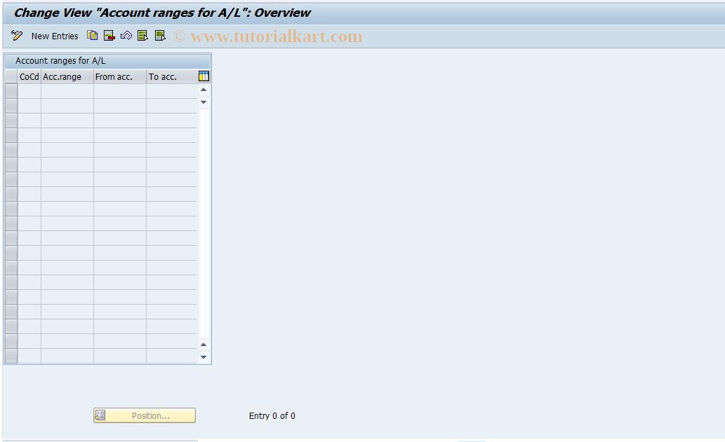 SAP TCode J1GAL1 - Maintain J_1GAR_AL_V