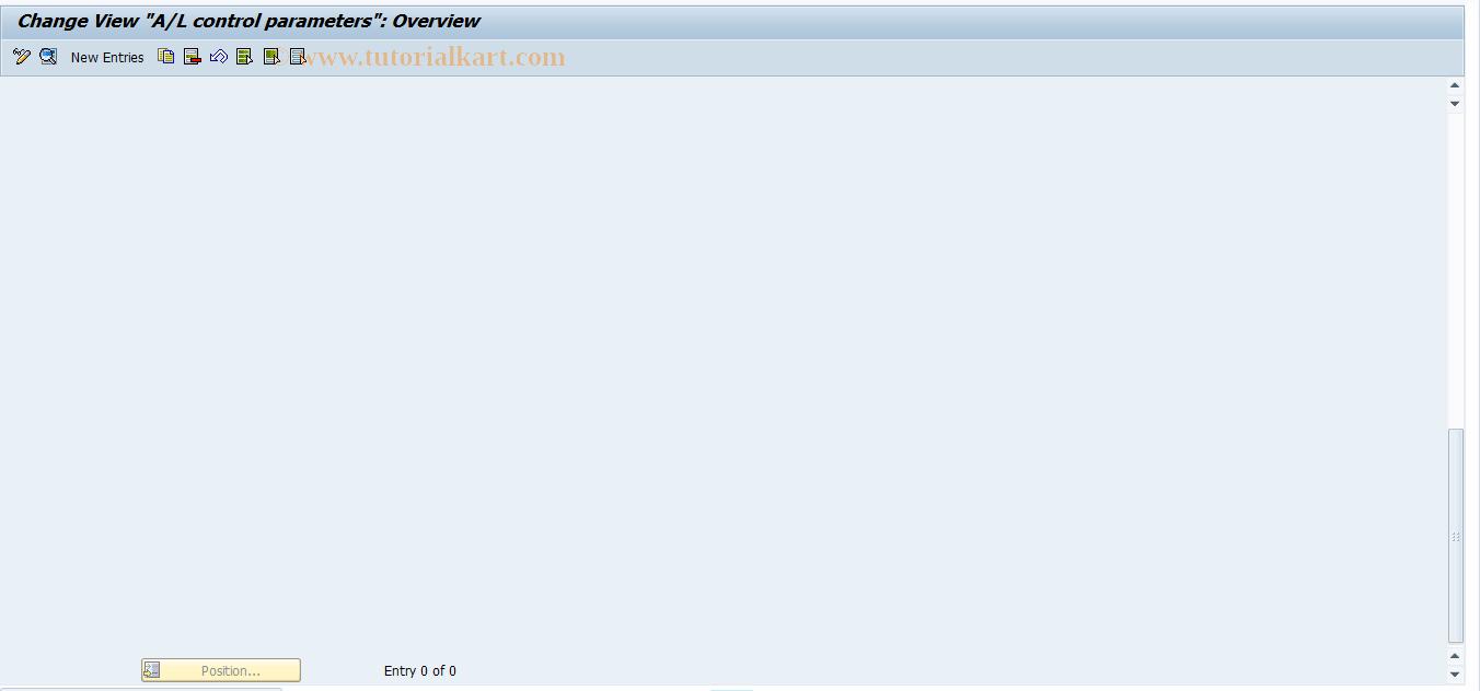 SAP TCode J1GAL8 - Update A/L (FI) from SPL