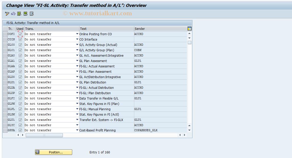 SAP TCode J1GALD - Maintain J_1GAT_V