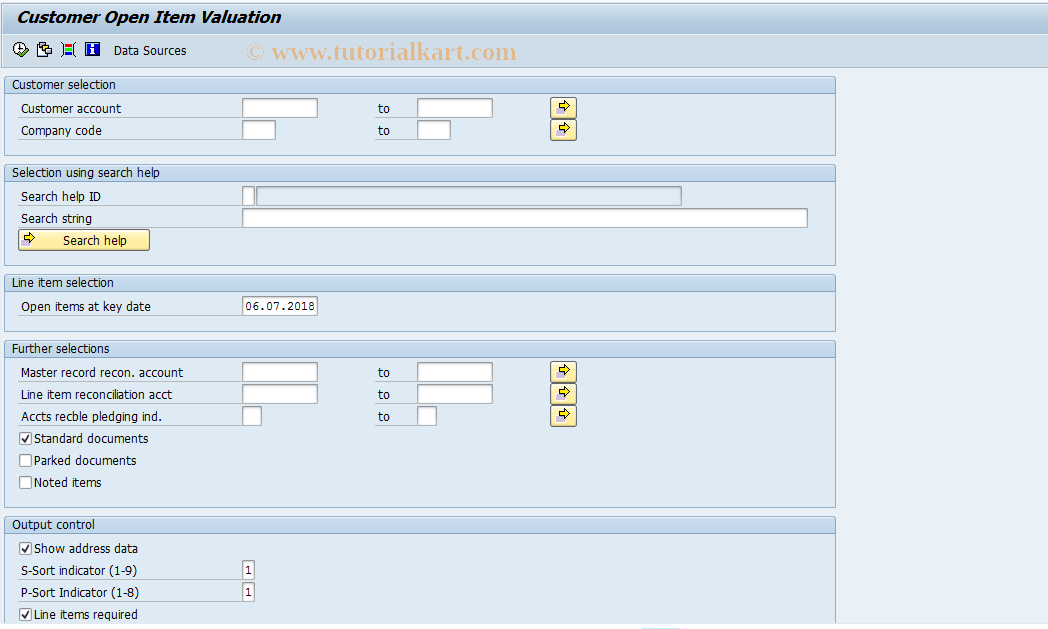 SAP TCode J1GCVAL - Customer valuation