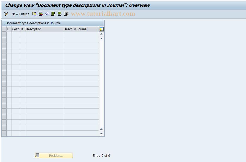 SAP TCode J1GJR1 - Document types
