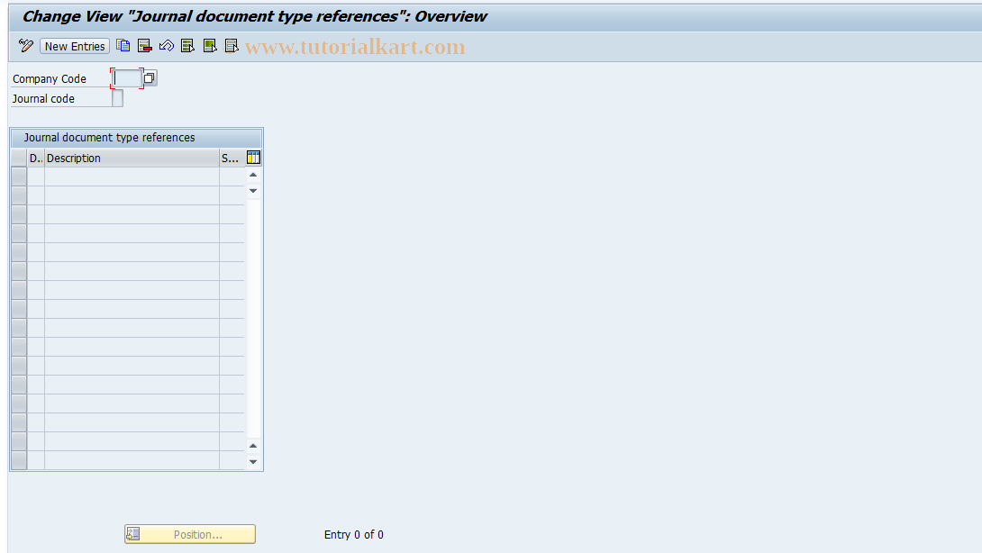 SAP TCode J1GJR5 - Document types assignment
