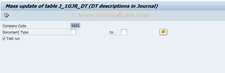 SAP TCode J1GJR6 - Document types