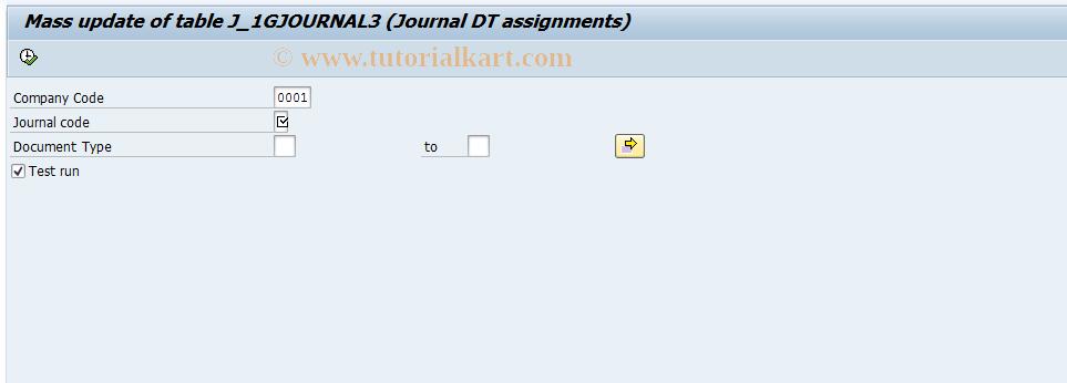 SAP TCode J1GJR8 - Document types assignment