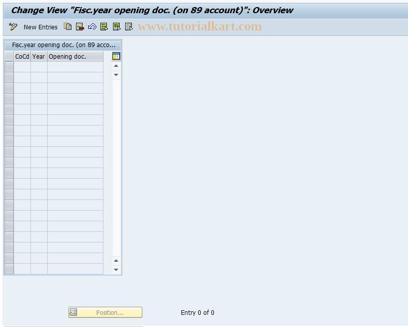 SAP TCode J1GOD0 - Control table