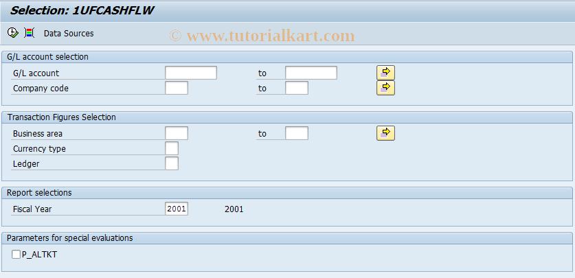SAP TCode J1UFCASHFLW - Cash Flow