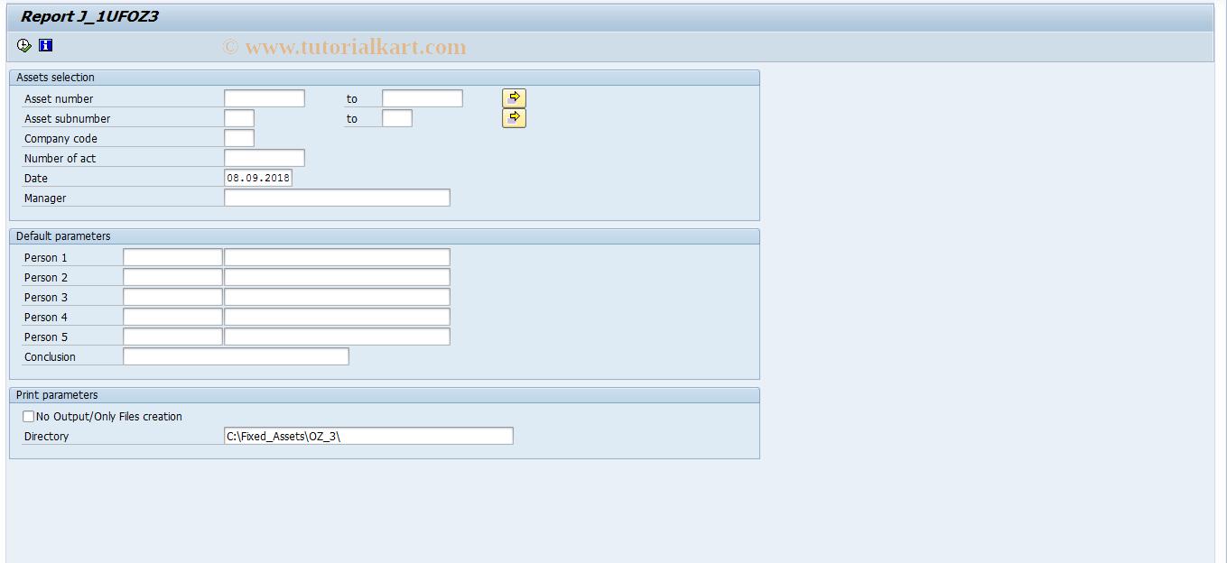 SAP TCode J1UF_OZ3 - OZ3
