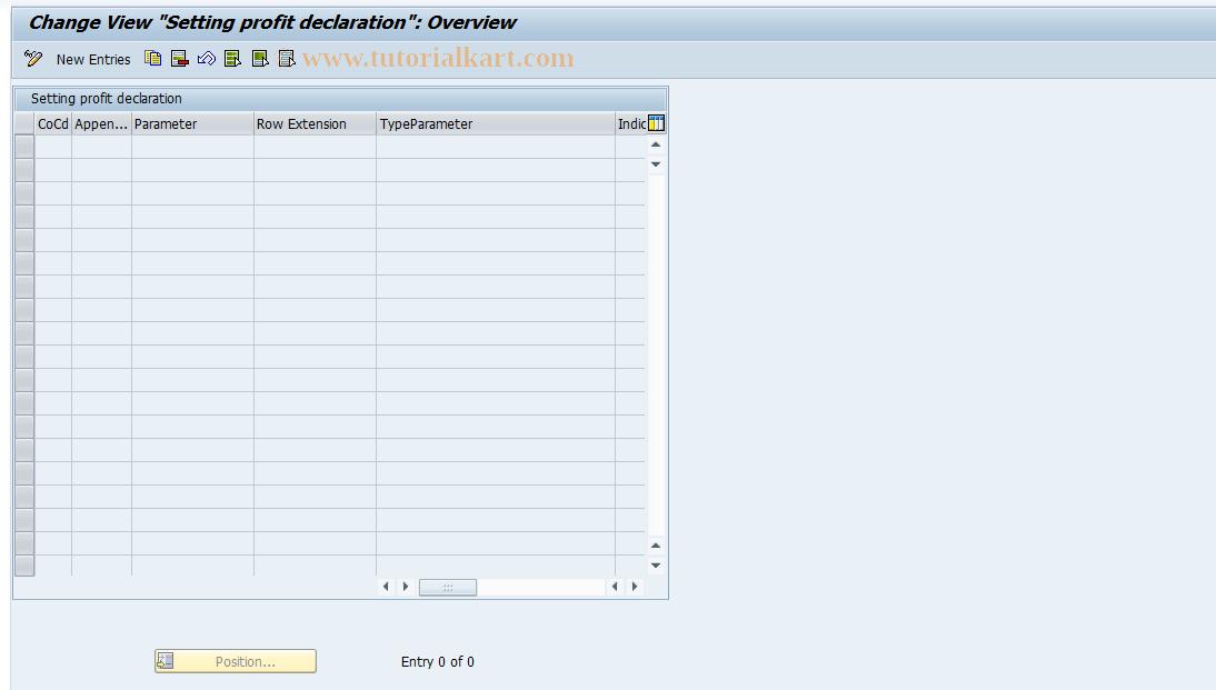 SAP TCode J1UF_PROFIT_DECL - J1UF_PROFIT_DECL