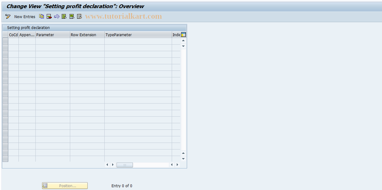 SAP TCode J1UF_SET_PROFIT_DECL - Settings profit declaration