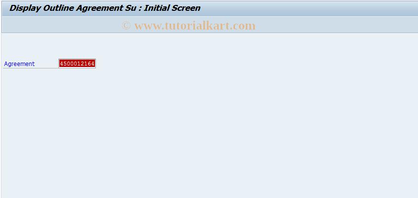 ME36 SAP Tcode : Display Agreement Supplement (IR