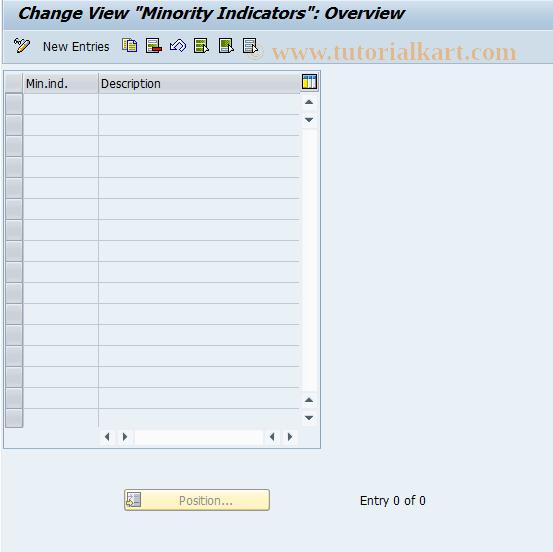 SAP TCode OB19 - C FI Maintain Table T059M