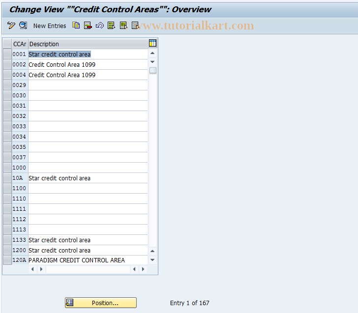 SAP TCode OB45 - C FI Maintain Table T014