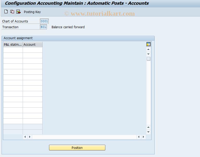 SAP TCode OB53 - C FI Maintain Table T030
