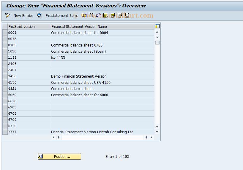 SAP TCode OB58 - C FI Maintain Table T011/T011T